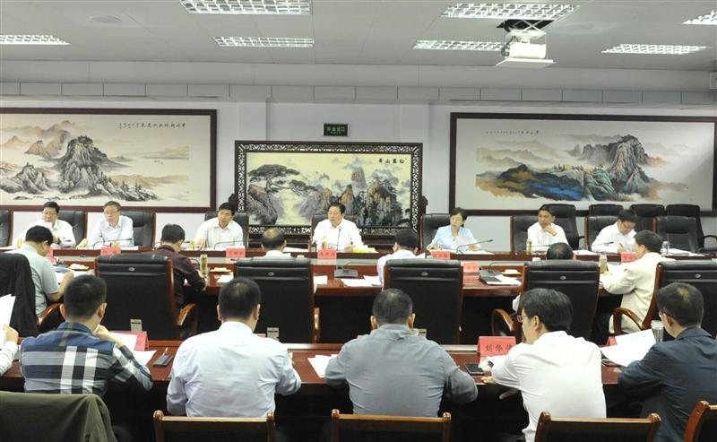 朱是西主持召开项目建设和重点工作推进会议