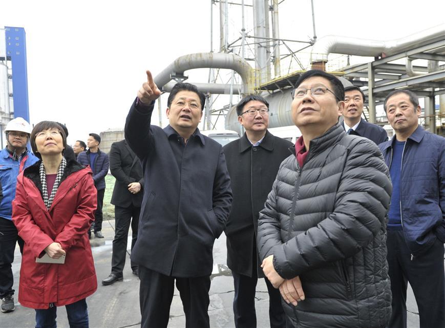 朱是西深入工业企业调研督导环保工作