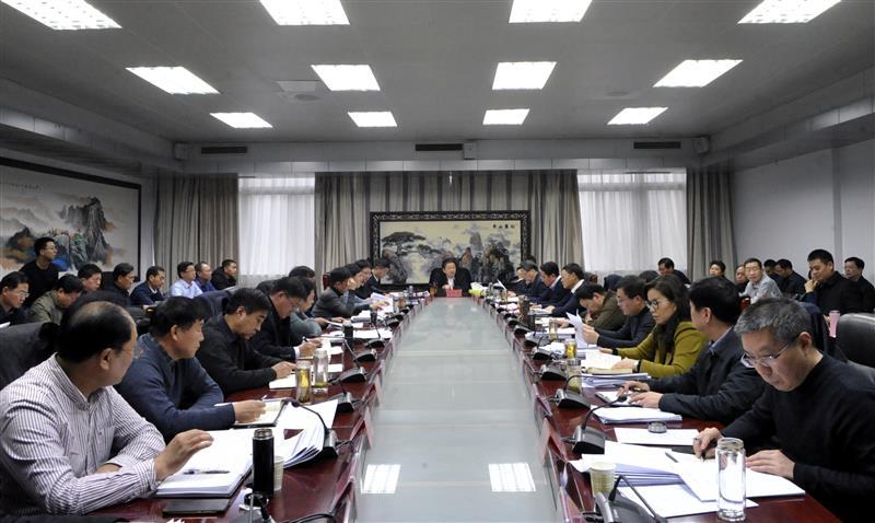 朱是西主持召开全市2019年重点项目谋划会议