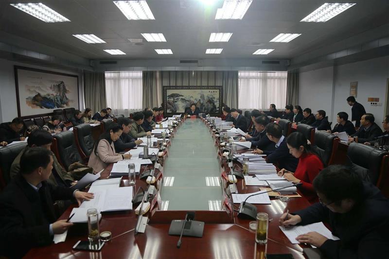 朱是西主持召开市政府第六十二次常务会议
