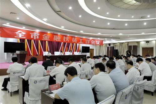 陈星在全市金融扶贫工作会议上强调