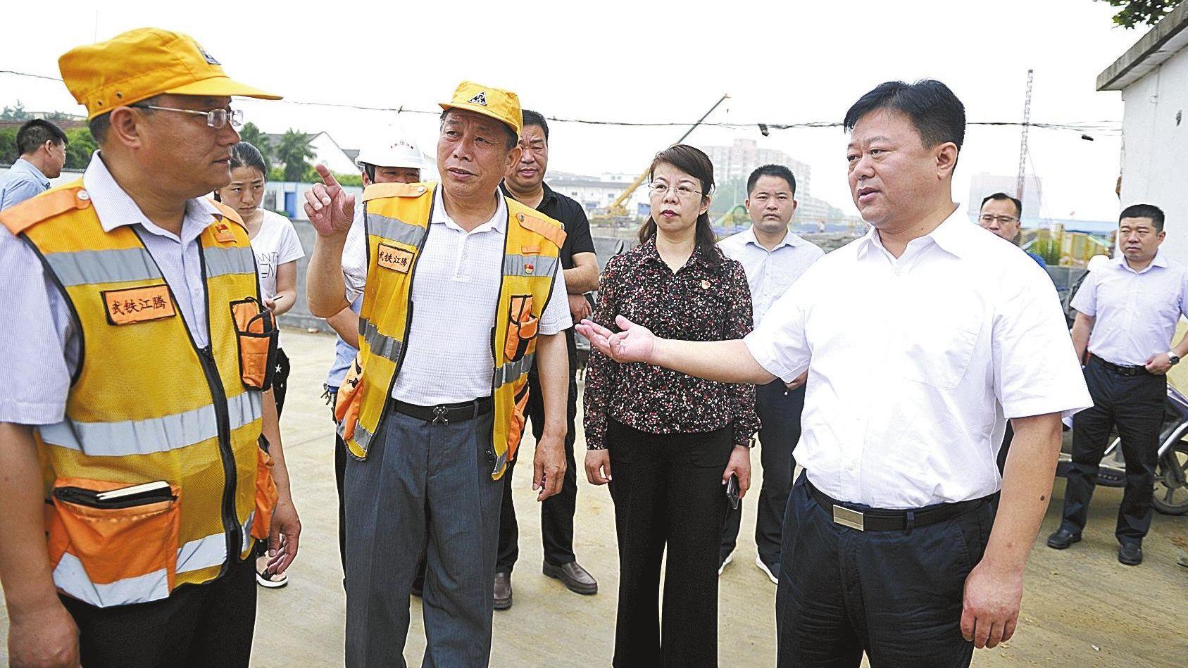 陈星深入中心城区六个功能片区集中调研项目建设交办任务事项