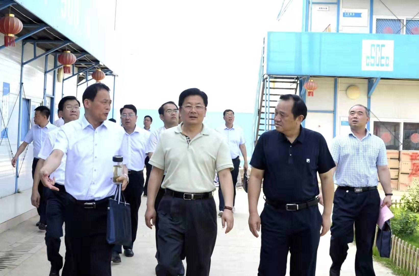 朱是西调研指导国际会展中心项目建设