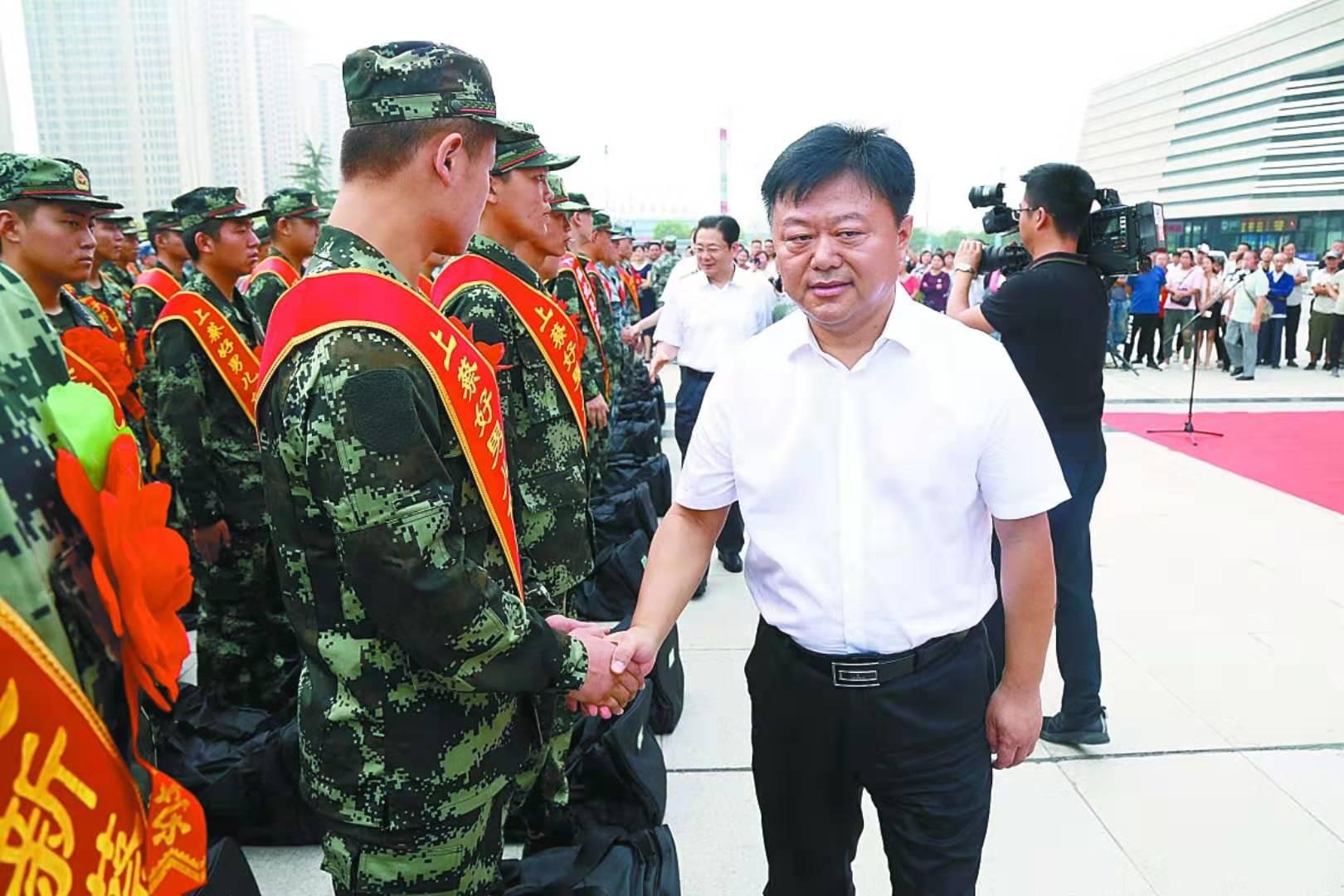 陈星朱是西等出席2019年夏秋季应征入伍新兵欢送仪式